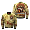 CELEBRATE NATIONAL NATIVE AMERICAN DAY... OVER PRINT BOMBER JACKET