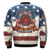 Buy FIREFIGHTER FIRST IN LAST OUT AMERICAN OVER PRINT BOMBER JACKET - Familyloves hoodies t-shirt jacket mug cheapest free shipping 50% off