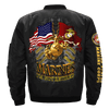 MARINES I'M NOT RETIRED, ONCE A MARINE ALWAYS A MARINE, OORAH SEMPER FI OVER PRINT JACKET