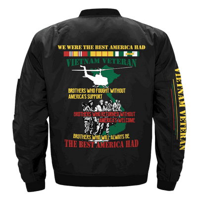 Buy WE WERE THE BEST AMERICA HAD-VIETNAM VETERAN-  Vietnam Veterans of America - OVER PRINT JACKET - Familyloves hoodies t-shirt jacket mug cheapest free shipping 50% off