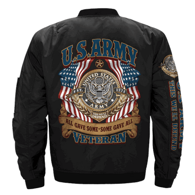 Buy ALL GAVE SOME - SOME GAVE ALL, U.S.ARMY VETERAN OVER PRINT JACKET - Familyloves hoodies t-shirt jacket mug cheapest free shipping 50% off