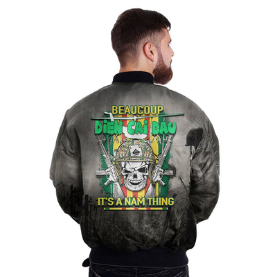 Buy BEAUCOUP DIEN CAI DAU IT'S NAM THING over print Bomber jacket - Familyloves hoodies t-shirt jacket mug cheapest free shipping 50% off