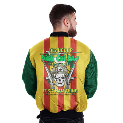 Buy BEAUCOUP DIEN CAI DAU IT'S NAM THING over print Bomber jacket v2.0 - Familyloves hoodies t-shirt jacket mug cheapest free shipping 50% off