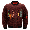 Africans tribe native Americans in the united stat african women work over print bomber jacket