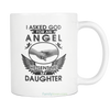 Buy MY DAUGHTER MY ANGEL MUG - Familyloves hoodies t-shirt jacket mug cheapest free shipping 50% off