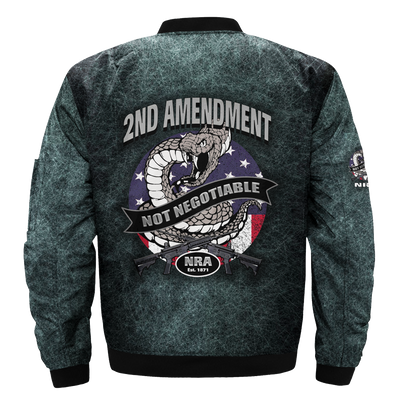 Buy 2ND AMENDMEN NOT NEGOTIABLE NRA EST 1871 over print Bomber jacket - Familyloves hoodies t-shirt jacket mug cheapest free shipping 50% off