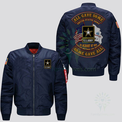 Buy EMBROIDERED JACKET U.S.ARMY, ALL GAVE SOME, SOME GAVE ALL, IN MEMORY OF OUR FALLEN BROTHERS AND SISTERS - Familyloves hoodies t-shirt jacket mug cheapest free shipping 50% off