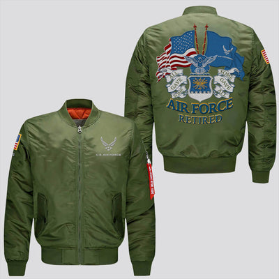 Buy U.S AIR FORCE RETIRED ALL GAVE SOME SOME GAVE ALL - EMBROIDERED JACKET - Familyloves hoodies t-shirt jacket mug cheapest free shipping 50% off