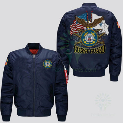 Buy UNITED STATES COAST GUARD, SINCE 1790 GO COAST GUARD SEMPER PARATUS EMBROIDERED JACKET - Familyloves hoodies t-shirt jacket mug cheapest free shipping 50% off