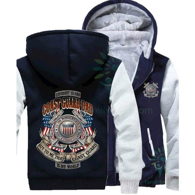 Buy COAST GUARD DAD, TO THE WORLD MY SON IS A COAST GUARD BUT TO ME THAT COAST GUARD IS MY WORLD HOODIE - Familyloves hoodies t-shirt jacket mug cheapest free shipping 50% off