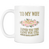 Buy TO MY WIFE I LOVE YOU MUG - Familyloves hoodies t-shirt jacket mug cheapest free shipping 50% off