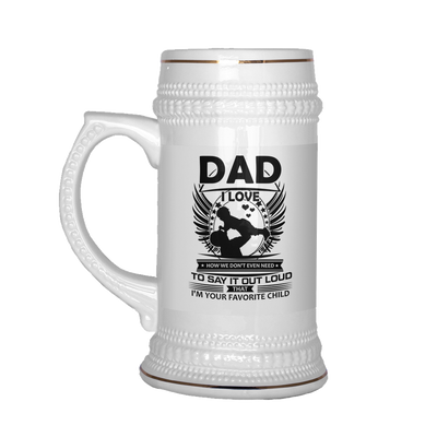 Buy Dad i love how we don't even need beer stein - Familyloves hoodies t-shirt jacket mug cheapest free shipping 50% off