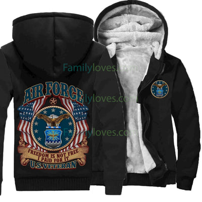 Buy AIR FORCE, FREEDOM IS NOT FREE, I PAID FOR IT HOODIE - Familyloves hoodies t-shirt jacket mug cheapest free shipping 50% off