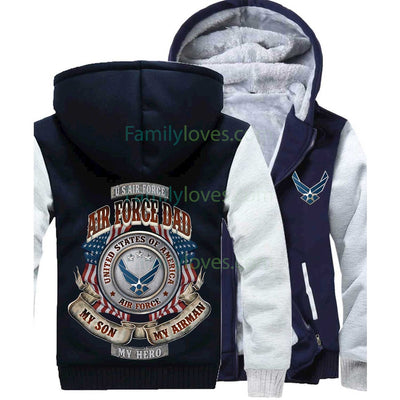 Buy AIR FORCE DAD MY SON MY AIRMAN MY HERO HOODIE - Familyloves hoodies t-shirt jacket mug cheapest free shipping 50% off