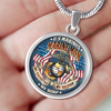 MARINE MOM MY DAUGHTER MY HERO MY SOLDIER Luxury Necklace