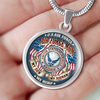 AIR FORCE MOM MY SON MY AIRMAN MY HERO Luxury Necklace