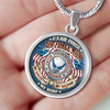 AIR FORCE MOM MY DAUGHTER MY SOLDIER MY HERO LUXURY NECKLACE