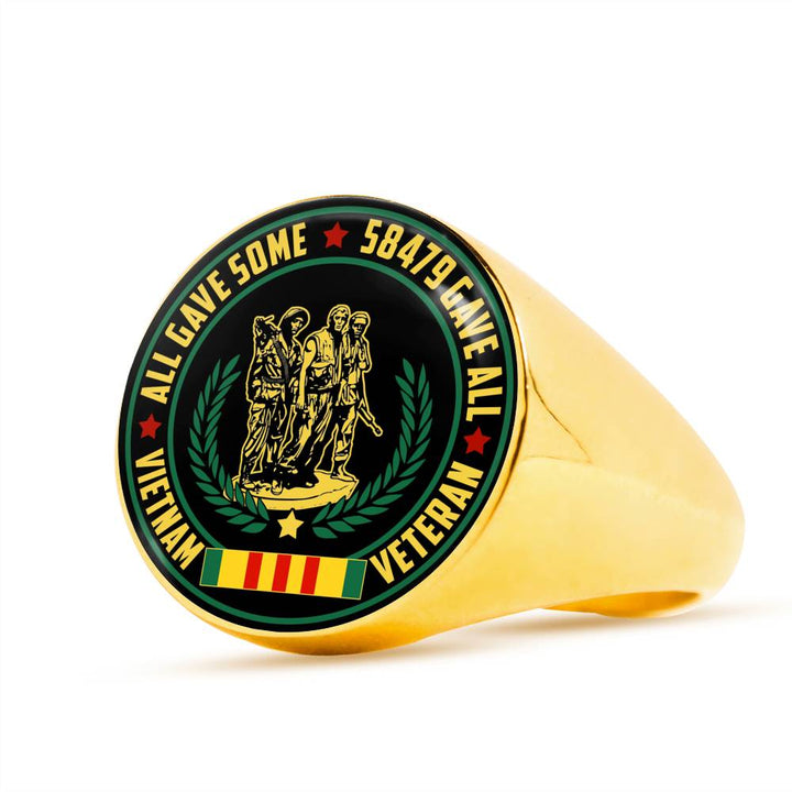 all gave some 58479 gave all vietnam veteran ring