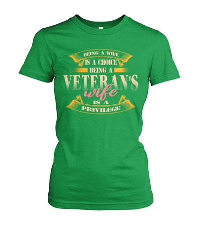 Buy Being a wife is a choice being a veteran's wife is a Privilege women t-shirt, hoodie - Familyloves hoodies t-shirt jacket mug cheapest free shipping 50% off