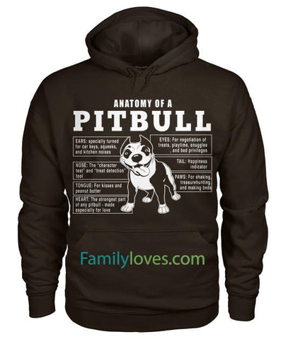 Anatomy Of A Pitbull Dog TshirtFamilyloves