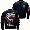 TWO WHEELS MOVE THE SOUL 1974 CAFE RACER  OVER PRINT JACKET