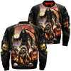 Death and dog over print jacket