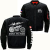 Buy BORN TO RIDE CAFE RACER CLUB  OVER PRINT JACKET - Familyloves hoodies t-shirt jacket mug cheapest free shipping 50% off