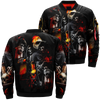 Death gothic reapers skulls over print jacket