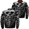 Skulls Skeltons over print jacket