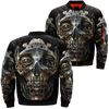 Steampunk skull over print jacket