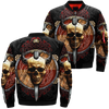 Skull viking over print jacket