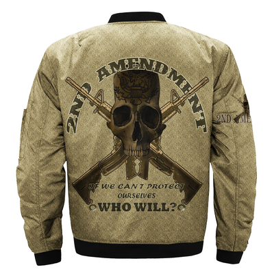 Buy 2ND AMENDMENT IF WE CAN'T PROTECT OURSELVES WHO WILL over print Bomber jacket - Familyloves hoodies t-shirt jacket mug cheapest free shipping 50% off