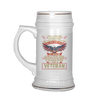 I WAS A WARRIOR I AM NO HERO BUT I HAVE SERVED WITH A FEW I WILL NEVER ACCEPT DEFEAT BEER STEIN