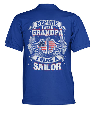 Buy Before i was a grandpa i was a sailor polo shirt - Familyloves hoodies t-shirt jacket mug cheapest free shipping 50% off