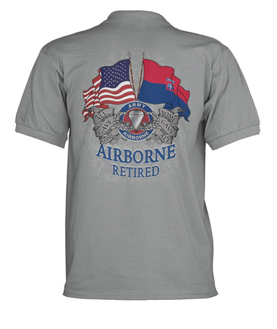 Buy AIRBORNE RETIRED, ALL GAVE SOME SOME GAVE ALL MEN'S POLO SHIRT - Familyloves hoodies t-shirt jacket mug cheapest free shipping 50% off