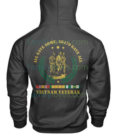 Buy ALL GAVE SOME, 58479 GAVE ALL, Vietnam Veterans of America, Gildan Hoodie - Familyloves hoodies t-shirt jacket mug cheapest free shipping 50% off
