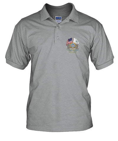 U.S.COAST GUARD RETIRED MEN'S POTO SHIRT