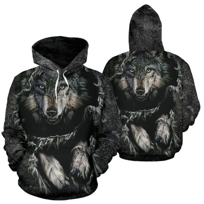 Buy Breakthrough Wolf All Over Hoodie - Familyloves hoodies t-shirt jacket mug cheapest free shipping 50% off