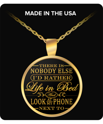 There is nobody else I'd rather life in bed valentine's day necklace