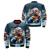 Chief & Spirit Animal Galaxy Background Native American Pride All OVER PRINT BOMBER JACKET