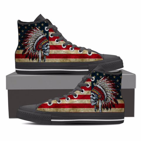 #1 Native american skull shoes for men