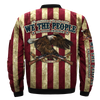 The constitution of the United States we the people the second amendment, since 1791 over print Bomber jacket