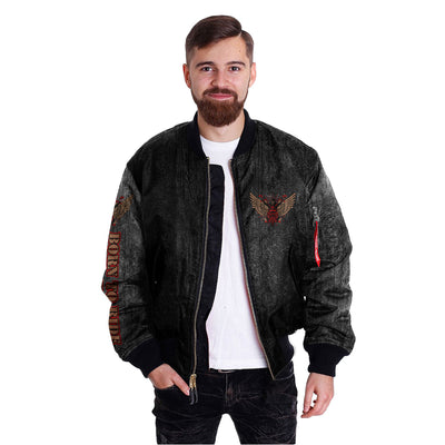 Biker Life USA Men's Born to Ride  Ride to Live over print jacket