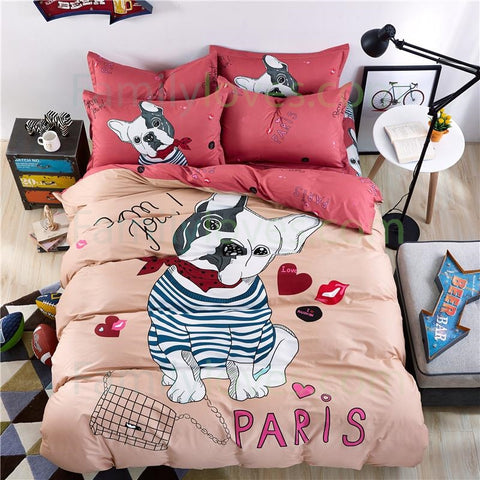 100% cotton Pitbull bedding setFamilyloves