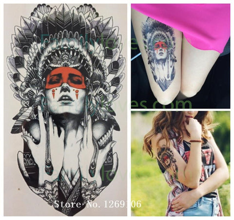 Ancient women Sexy Cool Beauty Hot Temporary Tattoo StickersFamilyloves