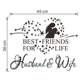 husband and wife quotes sticker