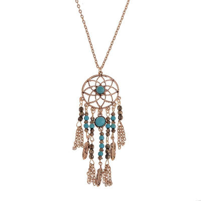 Buy Collier Femme Plume Dreamcatcher Native American Fringe Necklace Collier attrape reve Colares Boho Chic Collana Acchiappasogni - Familyloves hoodies t-shirt jacket mug cheapest free shipping 50% off