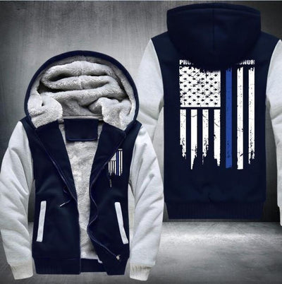Buy flag days Thicken Hoodie  Zipper Coat Jacket Sweatshirt  policer veterans milytary USA - Familyloves hoodies t-shirt jacket mug cheapest free shipping 50% off