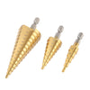 Buy 3 Pcs/set Drill Bits Hex Shank HSS Titanium Coated Straight Flute Stepped Drill - Familyloves hoodies t-shirt jacket mug cheapest free shipping 50% off