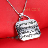 Grandmother Necklace JewelryFamilyloves